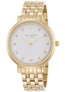 kate spade new york Women's Monterey Gold-Tone Stainless Steel Bracelet Watch 38mm 1YRU0821