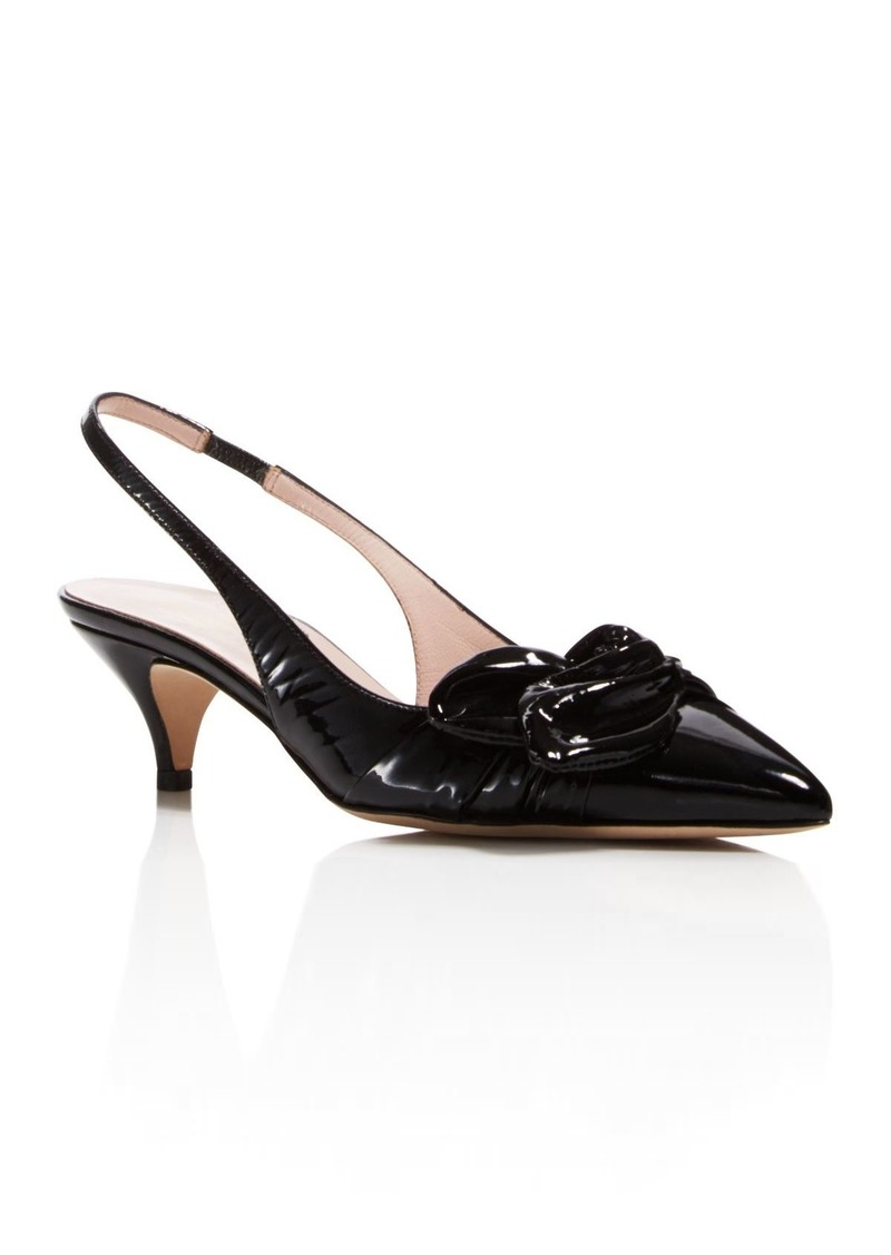 Kate Spade New York Patent Leather Slingback Pumps cheap sale manchester great sale discount store many kinds of for sale L0Ej0rJ