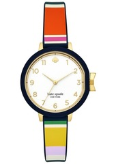 kate spade new york Women's Park Row Multicolor Silicone Strap Watch 34mm
