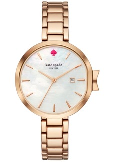 kate spade new york Women's Park Row Rose Gold-Tone Stainless Steel Bracelet Watch 34mm KSW1323