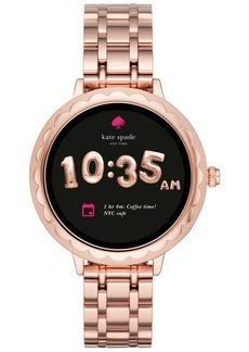 kate spade new york Women's Pink Stainless Steel Bracelet Touchscreen Smart Watch 42mm
