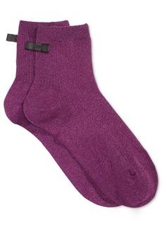 kate spade new york Women's Ribbed Sparkle Ankle Socks