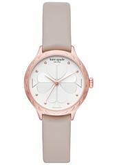kate spade new york Women's Rosebank Gray Leather Strap Watch 32mm