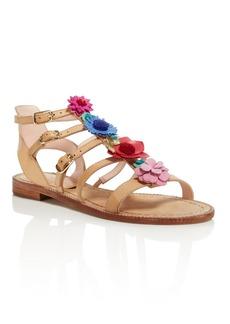 kate spade new york Women's Sadia Leather Floral Appliqu� Sandals