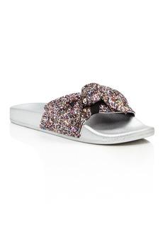 kate spade new york Women's Shellie Glitter Pool Slide Sandals