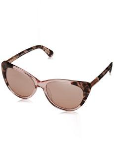 Kate Spade New York Women's Sheryln Cat-Eye Sunglasses PINK HAVANA PINK/PINK FLASH SILVER