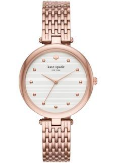 kate spade new york Women's Varick Rose Gold-Tone Stainless Steel Bracelet Watch 36mm