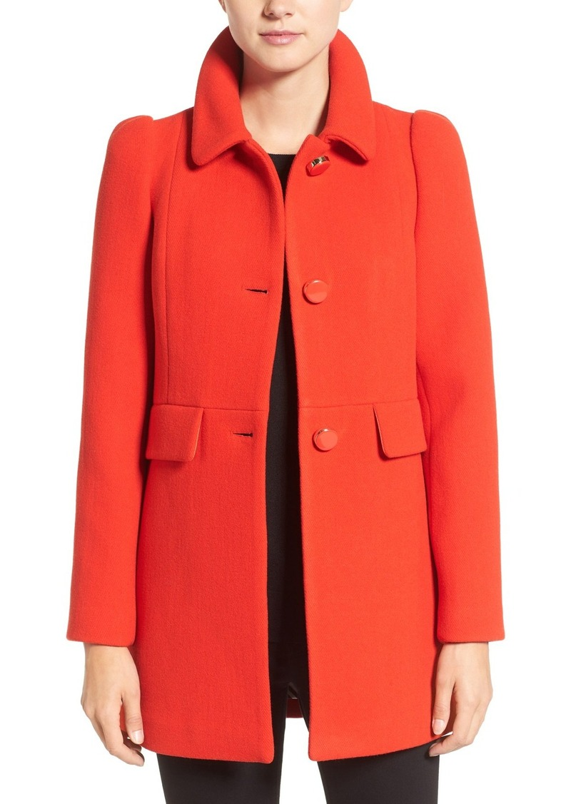 kate spade new york wool blend a-line coat