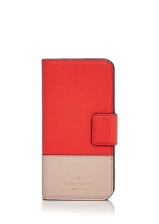 kate spade new york Wrap Folio Color Block Leather iPhone 7 Case