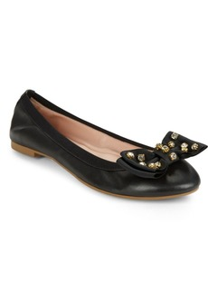 Kate Spade Wylie Bow-Accented Leather Flats