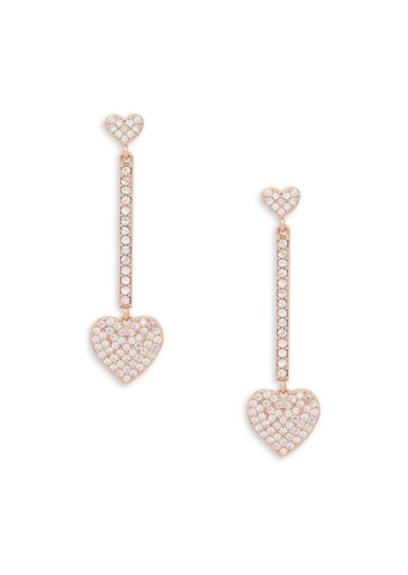 Kate Spade New York Yours Truly Crystal Linear Heart Earrings