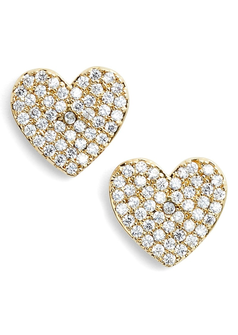 baeb441173747 Kate Spade kate spade new york yours truly pave heart stud earrings ...