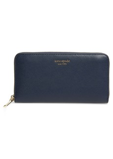 kate spade new york spencer zip around leather continental wallet
