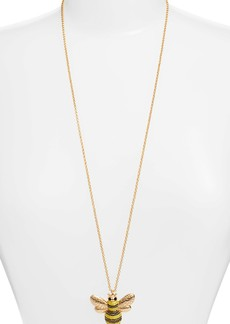 kate spade picnic perfect pave bee pendant necklace