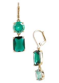 kate spade shine on mismatched drop earrings