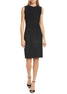 kate spade tinsel tweed sleeveless wool blend sheath dress