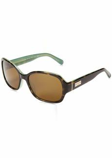 Kate Spade Women's Akira Polarized Rectangular Sunglasses
