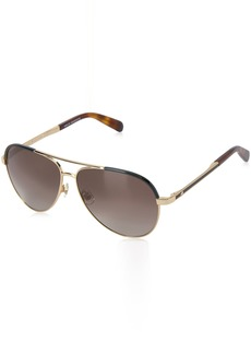 Kate Spade Women's Amarissa Aviator Sunglasses GOLD HAVANA/BROWN GRADIENT 59 mm