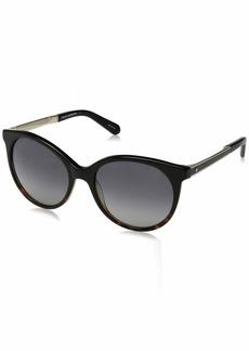 Kate Spade Women's Amaya/s Polarized Round Sunglasses BLKHAVBLK 53 mm