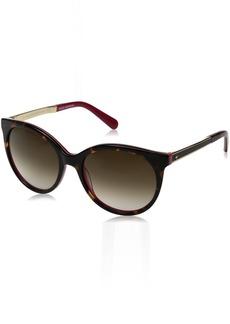 Kate Spade Women's Amayas Round Sunglasses HAVANA PINK/BROWN GRADIENT 53 mm