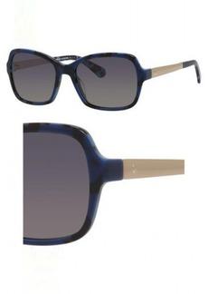 Kate Spade Women's Annjanette/s Polarized Rectangular Sunglasses BLUE HVNA 55 mm