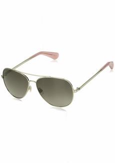 Kate Spade Women's Avaline2/s Polarized Aviator Sunglasses