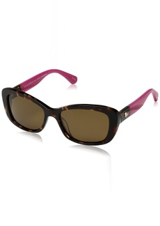 Kate Spade Women's Claretta/p/s Polarized Rectangular Sunglasses  53 mm