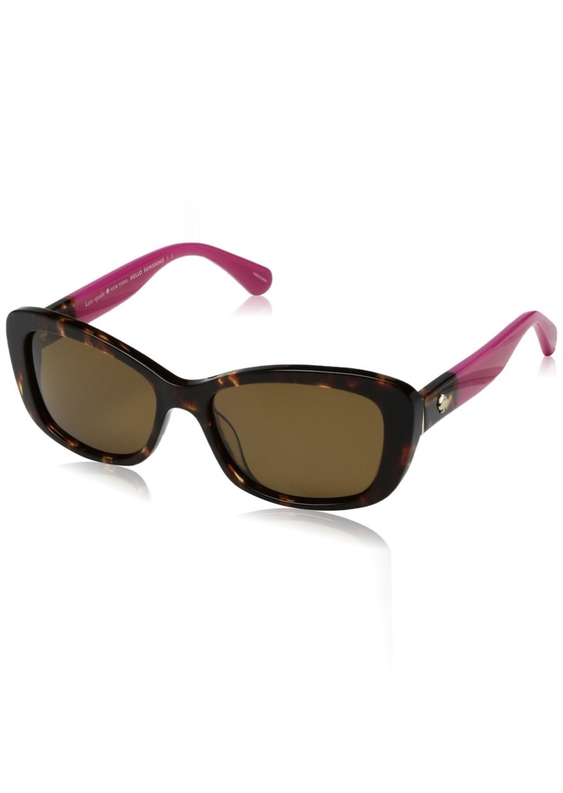 Kate Spade Women's Claretta/p/s Polarized Rectangular Sunglasses  53 mm