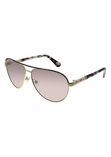 Kate Spade Women's Emilyann/s Aviator Sunglasses GOLD PLUM HAVANA/PINK FLASH SILVER 59 mm