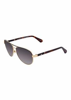 Kate Spade Women's Emilyann/s EMILYS Aviator Sunglasses  59 mm