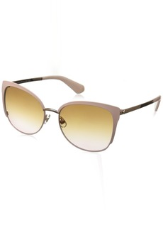 Kate Spade Women's Genice/s Oval Sunglasses Gold/Brown Pink Gradient 57 mm