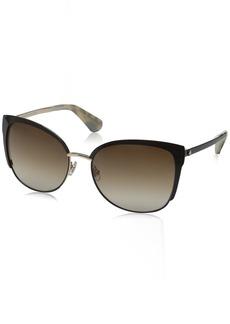 Kate Spade Women's Genice/s Oval Sunglasses Gold/Warm Brown Gradient 57 mm