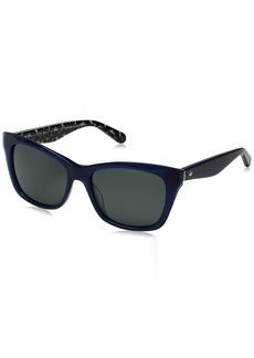 Kate Spade Women's Jenae/ps Square Sunglasses BLUE BLACK/GRAY POLARIZED