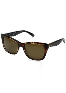 Kate Spade Women's Jenae/ps Square Sunglasses HAVANA CREAM TRANSPARENT/BROWN POLARIZED