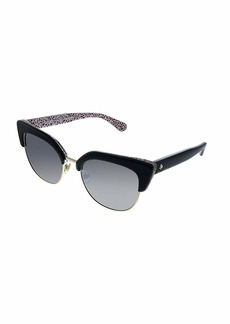 Kate Spade Women's Karri/s Cateye Sunglasses Pattern RED/Black Mirror 53 mm