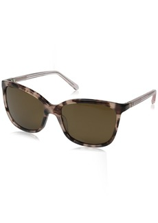 Kate Spade Women's Kasie/P/S Polarized Square Sunglasses Havana Rose/Brown 55 mm