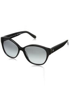 Kate Spade Women's Kiersten 2s Oval Sunglasses Black/Gray Gradient 56 mm