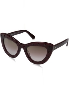 Kate Spade Women's Luann Cateye Sunglasses BURGUNDY/BROWN MIRROR GOLD SHADED