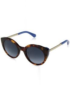 Kate Spade Women's Norina/s Round Sunglasses havana blue