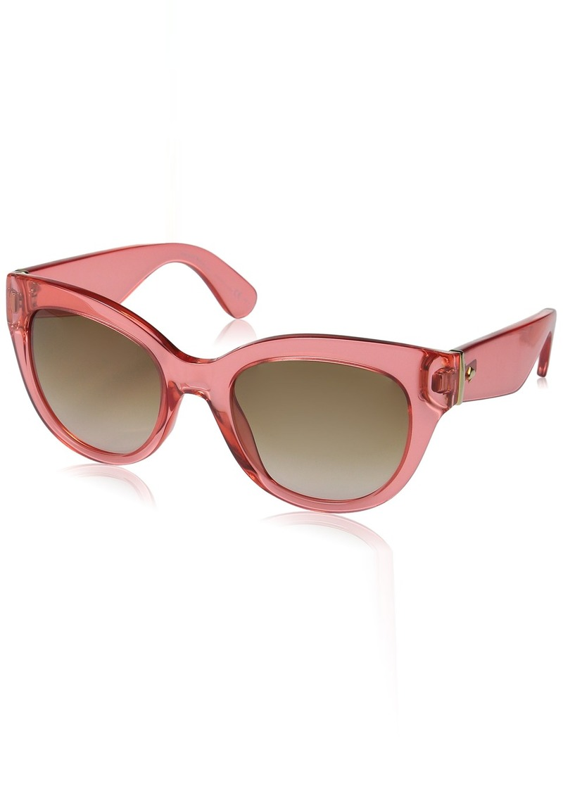 Kate Spade Women's Sharlotte Square Sunglasses RED/BROWN PINK GRADIENT