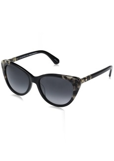 Kate Spade Women's Sherylyn/s Cateye Sunglasses BLACK HAVANA/DARK GRAY GRADIENT 54 mm