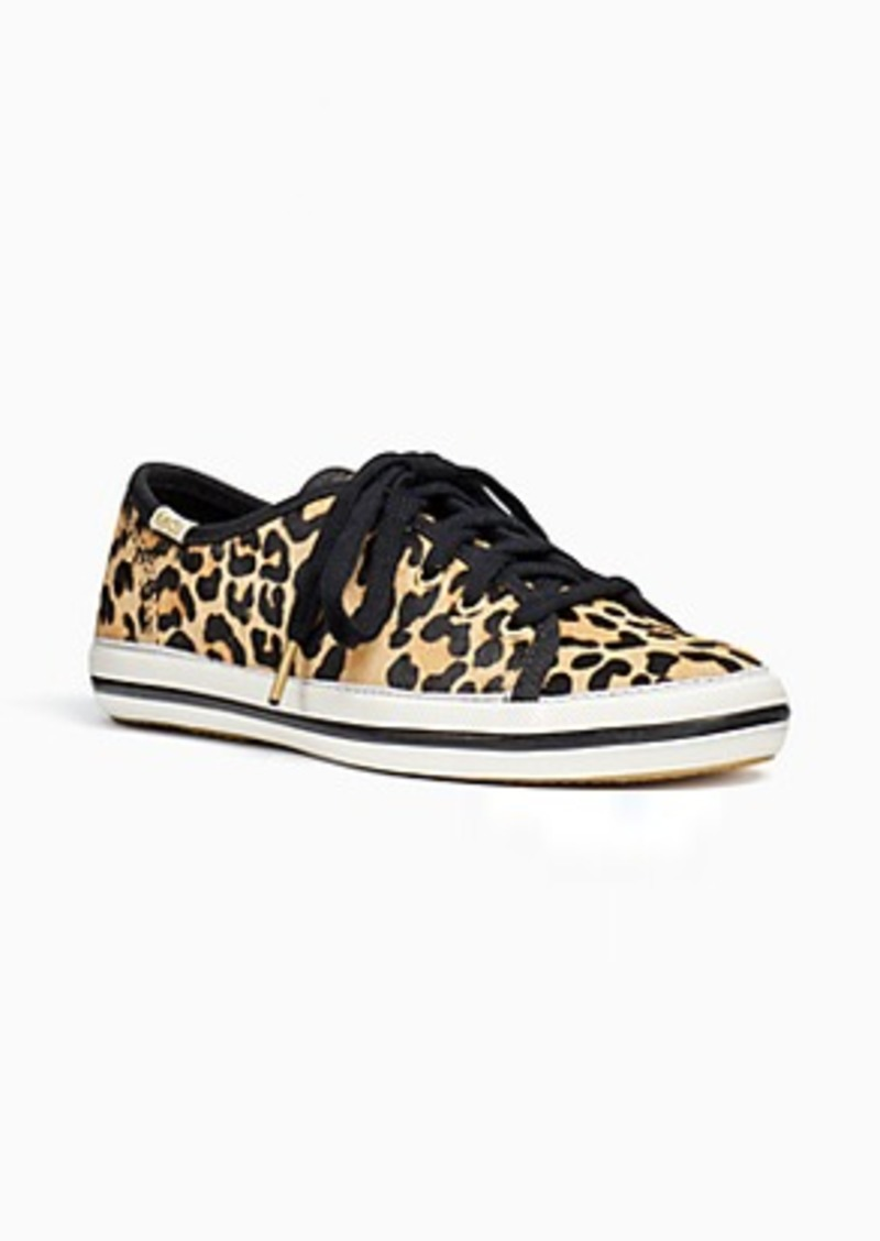 keds kids x kate spade new york kickstart leopard-print youth sneakers