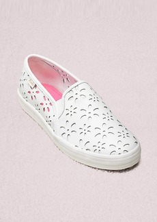 keds x kate spade new york double decker perforated leather sneakers