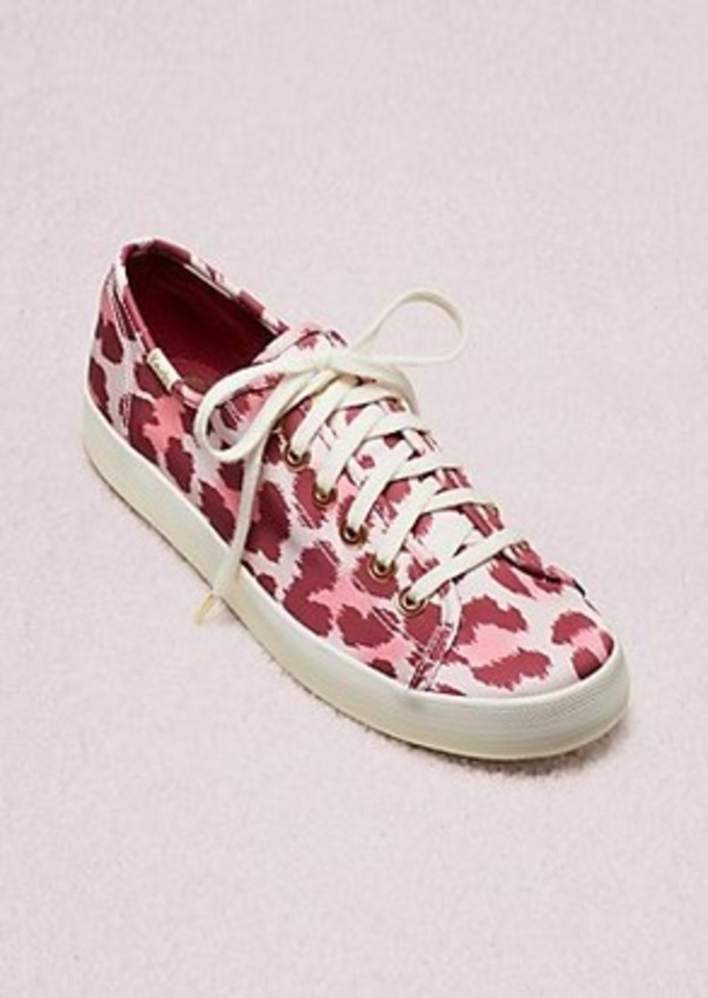 keds x kate spade new york kickstart leopard satin sneakers