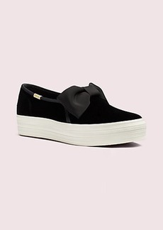 keds x kate spade new york triple decker velvet bow sneakers