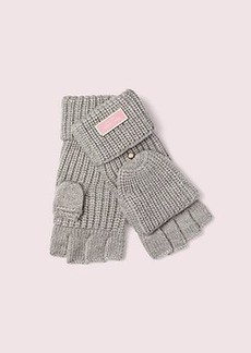Kate Spade label pop top gloves