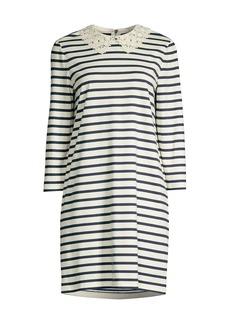 Kate Spade Lace Collar Striped Dress