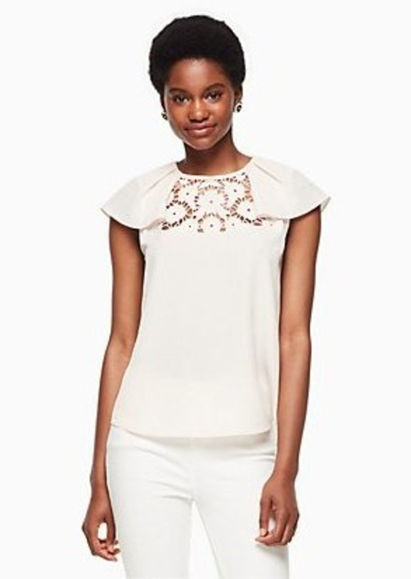 Kate Spade lace embroidered top
