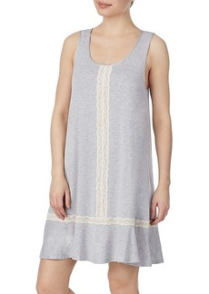 Kate Spade Lace-Insert Floral A-Line Chemise