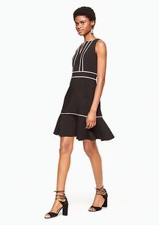 lace inset crepe dress